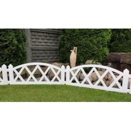 Záhradný plôtik 2,3 m biela