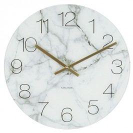 Karlsson 5618WH Designové nástenné hodiny, 40 cm