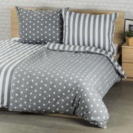 Bavlnené obliečky Stars sivá, 220 x 200 cm, 2 ks 70 x 90 cm