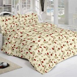 Kvalitex Krepové obliečky Filed Rose, 200 x 200 cm, 2 ks 70 x 90 cm