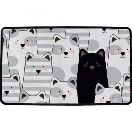 Vnútorná multifunkčná rohožka Black cat, 75 x 45 cm