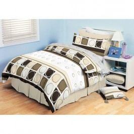 TipTrade bavlna obliečky Amelia Hnedé, 220 x 200 cm, 2 ks 70 x 90 cm, 220 x 200 cm, 2 ks 70 x 90 cm