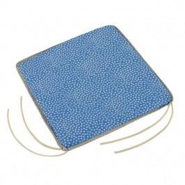 Sedák Adela hladký Kytička modrá, 40 x 40 cm
