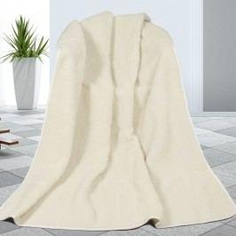 Vlnená deka biela, 155 x 200 cm