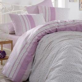 Bedtex obliečky bavlna Defne Lila, 220 x 200 cm, 2 ks 70 x 90 cm