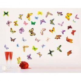 Samolepiaca dekorácia Zlet na lúčke motýle