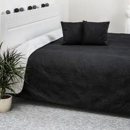 Prehoz na posteľ Doubleface biela/čierna, 220 x 240 cm, 40 x 40 cm