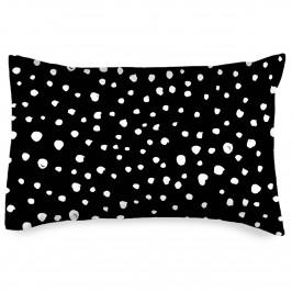 4home Obliečka na vankúšik Bodky Dalmatín čiernobiela, 50 x 70 cm