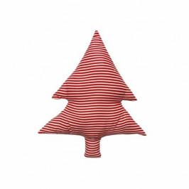 Domarex Tvarovaný vankúšik Smrčok červené prúžky, 40 cm