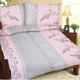 Bellatex Krepové obliečky Krík ružovo-sivá, 140 x 220 cm, 70 x 90 cm, 140 x 220 cm, 70 x 90 cm