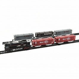 Teddies Vlak s 5 vagónmi so svetlom a koľajami na batérie, 140 x 68 cm