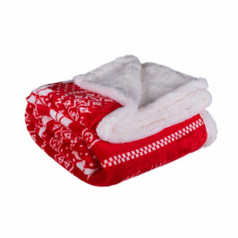 Jahu Baránková deka Winter červená, 150 x 200 cm