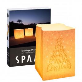 SPAAS Sada 4 ks ohňovzdorných vrecúšok Christmas s čajovou sviečkou Maxi