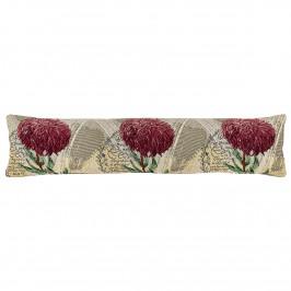 Boma Trading Ozdobný tesniaci vankúš do okien Chryzantéma fialová, 22 x 90 cm