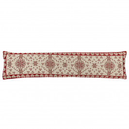 Boma Trading Ozdobný tesniaci vankúš do okien Srdiečka červená, 90 x 20 cm