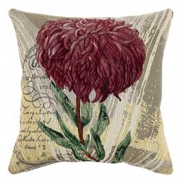 Boma Trading Obliečka na vankúšik Chryzantéma fialová, 45 x 45 cm