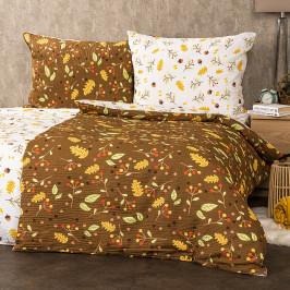 4Home Krepové obliečky Jeseň, 220 x 200 cm, 2 ks 70 x 90 cm