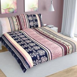 Bellatex Bavlnené obliečky Pruhy farebná, 200 x 220 cm, 2 ks 70 x 90 cm