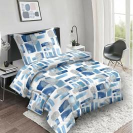 Jahu Bavlnené obliečky Abstract blue, 140 x 200 cm, 70 x 90 cm, 40 x 40 cm