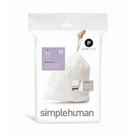 Vrecia do odpadkového koša 50-60 L, Simplehuman typ P, zaťahovacie, 20 ks v balení