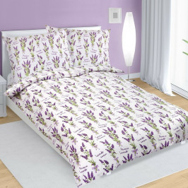 Bellatex Bavlnené obliečky Levanduľa, 140 x 200 cm, 70 x 90 cm