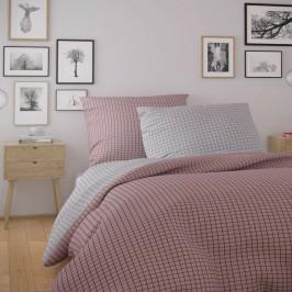 Kvalitex Bavlnené obliečky Nordic Kare ružová, 140 x 220 cm, 70 x 90 cm