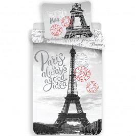 Jerry Fabrics Bavlnené obliečky Paris Good Idea, 140 x 200 cm, 70 x 90 cm