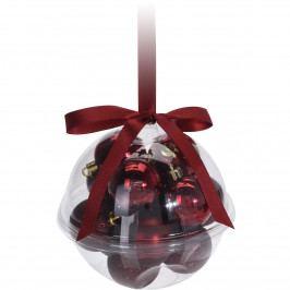Sada vianočných ozdôb Xmas Ball červená, 14 ks