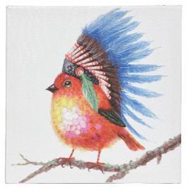 Obraz Colours Birdie červená, 30 x 30 cm