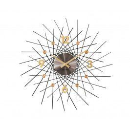 Nástenné hodiny Lavvu Crystal Lines antracitová, pr. 49 cm