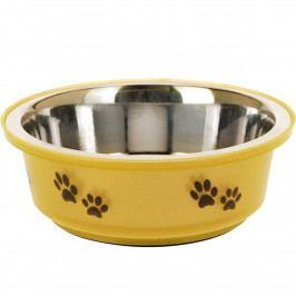 Miska pre psa žltá, 400 ml
