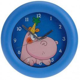 Nástenné hodiny Hippo modrá, 26 cm