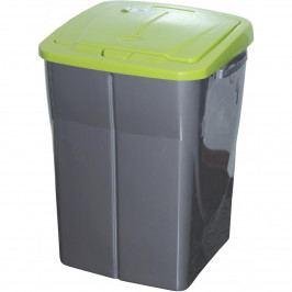 Kôš na triedený odpad 51 x 36 x 36,5 cm, zelené veko, 45 l
