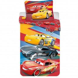 Jerry Fabrics Bavlnené obliečky Cars red 03, 140 x 200 cm, 70 x 90 cm