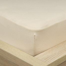 4Home Jersey prestieradlo s elastanom béžová, 90 x 200 cm