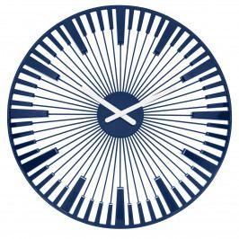 Koziol Nástenné hodiny Piano modrá, pr. 45 cm