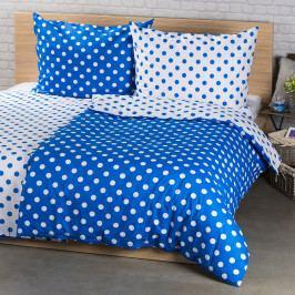4Home Bavlnené obliečky Modrá bodka, 220 x 200 cm, 2x 70 x 90 cm, 220 x 200 cm, 2 ks 70 x 90 cm