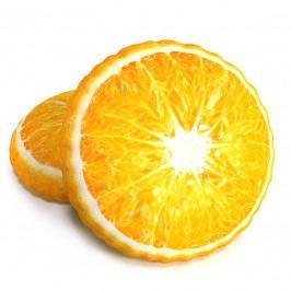 TipTrade Tvarovaný 3D vankúšik Pomaranč, 34 cm