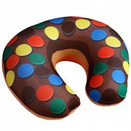Modom Cestovný vankúšik Donut lentilky, 30 x 30 cm