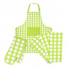 4Home Výhodná kuchynská sada Zelená bodka