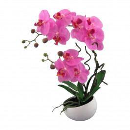 Umelá Orchidea v kvetináči ružová, 42 cm 115812-80