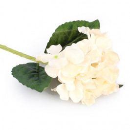 Umelá kvetina Hortenzia biela,