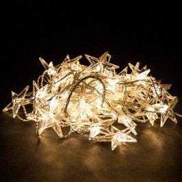 Závesné svietiace reťaze s hviezdami, 50 LED