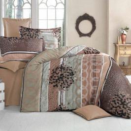 Kvalitex Bavlnené obliečky Delux Fantasy hnedá, 240 x 200 cm, 2 ks 70 x 90 cm
