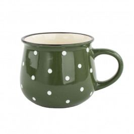 Keramický hrnček Dots 770 ml, zelená