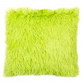 JAHU Obliečka na vankúšik Chlpáč Peluto Uni zelená, 40 x 40 cm