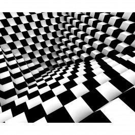 AG Art Fototapeta XXL Black & White Abstract  360 x 270 cm, 4 diely