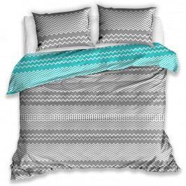 TipTrade Bavlnené obliečky Railing tyrkysová, 140 x 200 cm, 70 x 90 cm