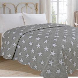 Jahu Prehoz na posteľ Stars sivá,  220 x 240 cm