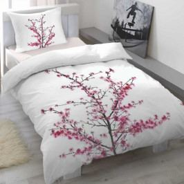 Trade Concept Saténové obliečky Cherry blossom, 140 x 200 cm, 70 x 90 cm